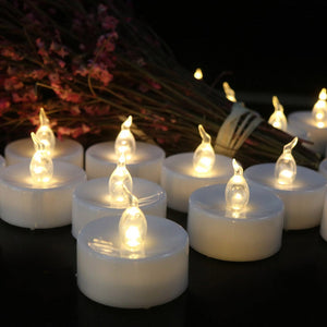 24Pcs Tea Light Flameless LED Candle Flickering Battery Christmas Wedding home