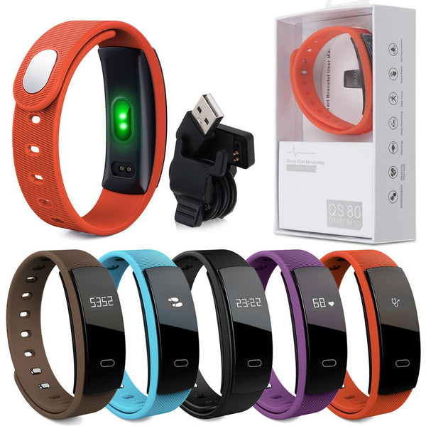 Bluetooth Smart Watch Heart Rate Blood Pressure Monitor Fitness Tracker Bracelet