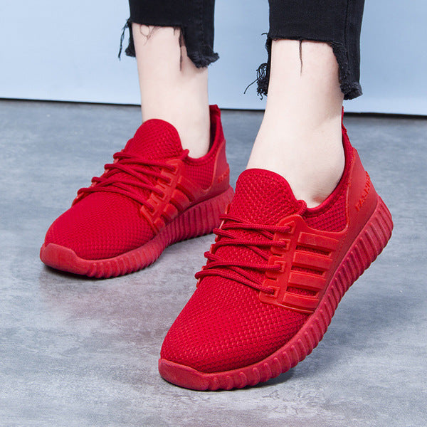 Breathable Mesh Shoes Women's Shoes Little Red Shoes