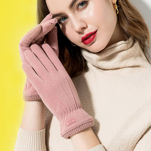 Women Fleece Warm Thick Sports Gloves