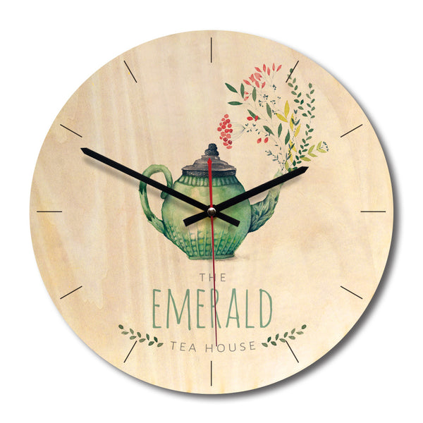Retro Print Wooden Minimalist Creative Wall Clock
