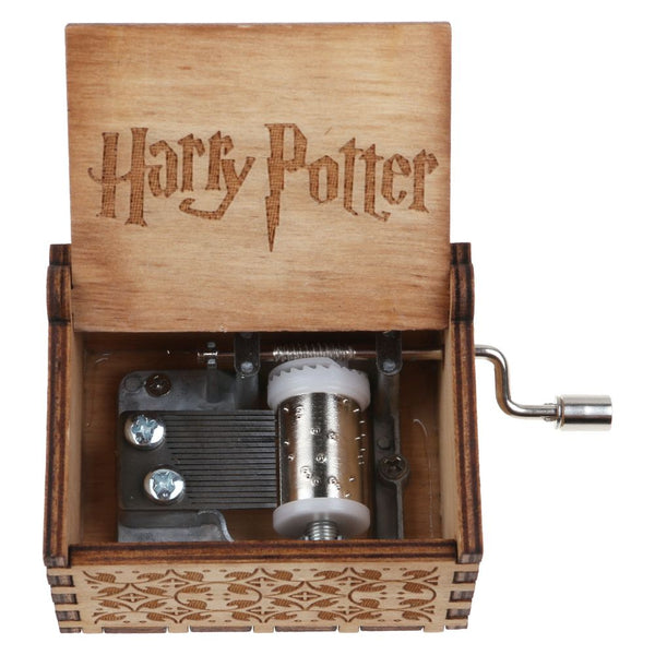 Harry Potter Engraved Wooden Music Box Toys Xmas Kids Gift