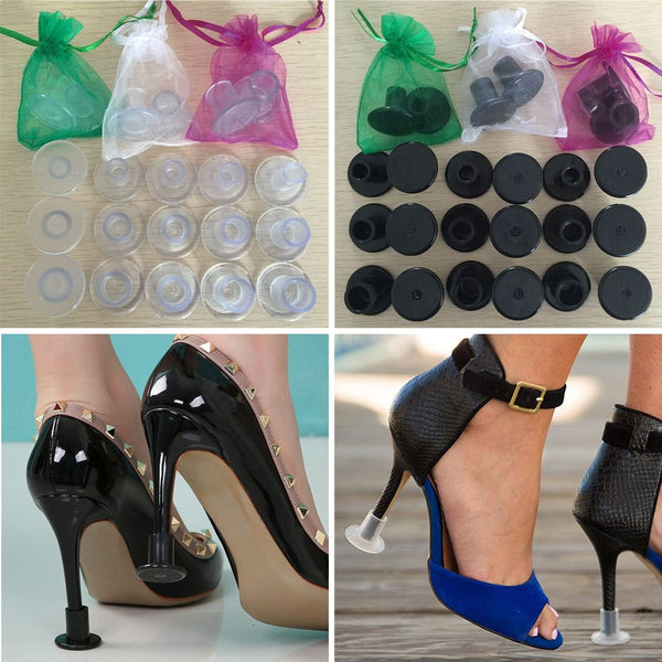2Pcs/Set High Heel Protectors Stopper Stop Heel Sinking Stiletto High Cover