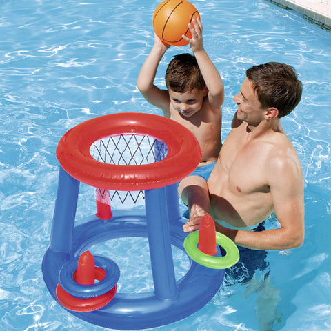 Swimming Pool Fun Sports Floating Basketball Hoops Outdoor Inflatable Toy