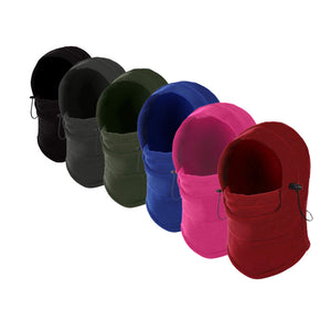 6 in 1 Outdoor Ski Masks Bike Cyling Beanies Winter Wind Stopper Face Hats