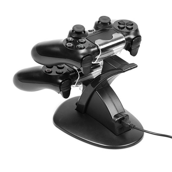 LED Dual USB Charging Charger Dock Stand Cradle Docking Station for PS4 Game Gaming Console Controller