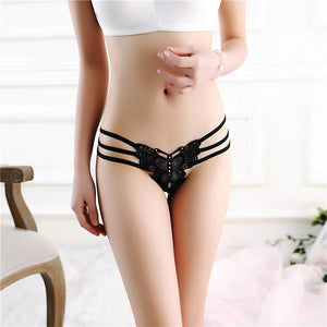 Luckymily Underwear Strings Sexy Thongs butterfly Bandage Thong Panties