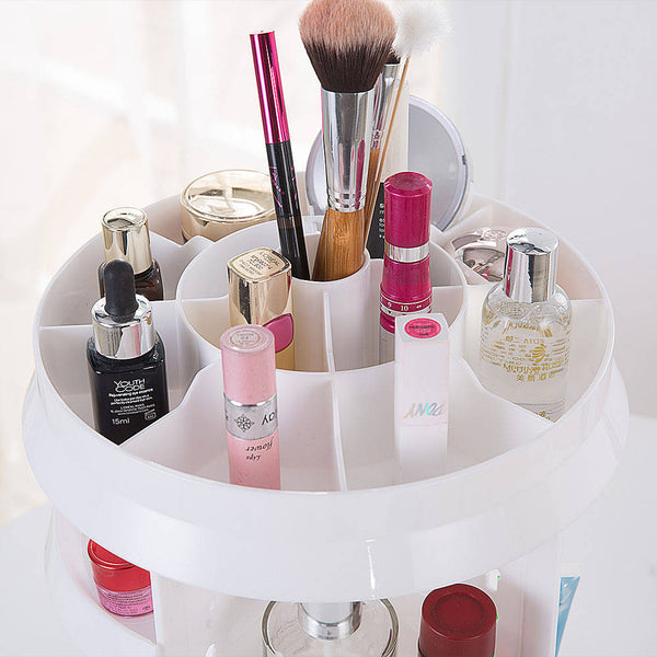 Rotating 360 Degree Acrylic Jewelry Cosmetic Makeup Organiser,Great Capacity