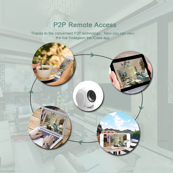 BESDER HD 720P Home Security IP Camera Two Way Audio Wireless Mini Camera 1MP Night Vision CCTV WiFi Camera Baby Monitor iCsee