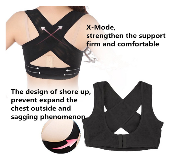 Women Adjustable Shoulder Back Posture Corrector Chest Brace Support Belt