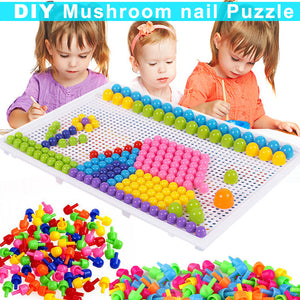 Mushroom Pegs with Board Kits Creative Puzzle Peg Board