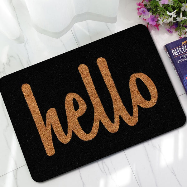 Hello Letters Printed Entrance Welcome Door Mats