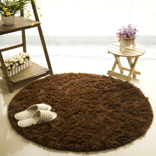 Fluffy Round Rug Carpets for Living Room Decor