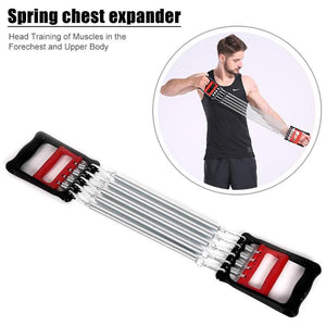 Arm Expander Hand Gripper Arm Pull Bar 2 in 1 Home Fitness Equipment Muscle Training Weight Exerciser with 5 Springs