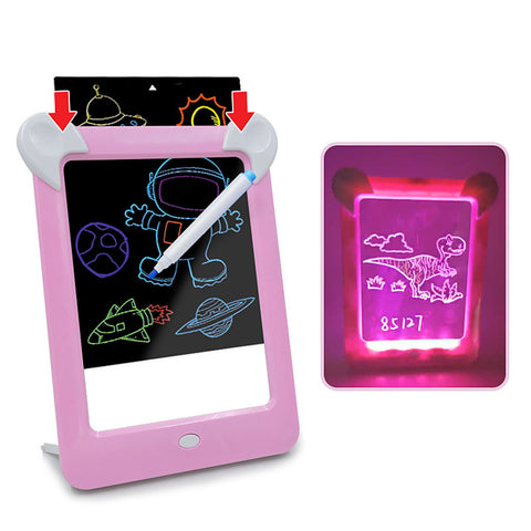 LED Drawing Board Glow in The Dark 3D Writing Tablet
