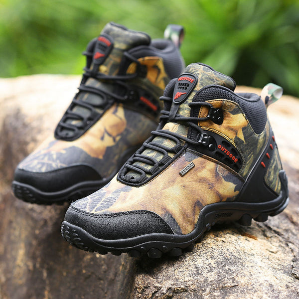Men's Outdoor Boots Autumn Winter Hunting Boots Dark Gray Army Green Mans Thick Sole Shoes