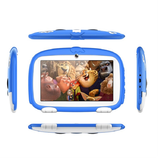 7 Inch Educational Android Kids Tablet 1+8G Guad-Core Cartoon Tablet For Kid Learning