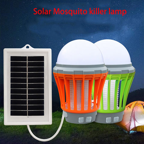 UV Solar LED Electric Fly Insect Bug Pest Mosquito Trap Killer Lamp