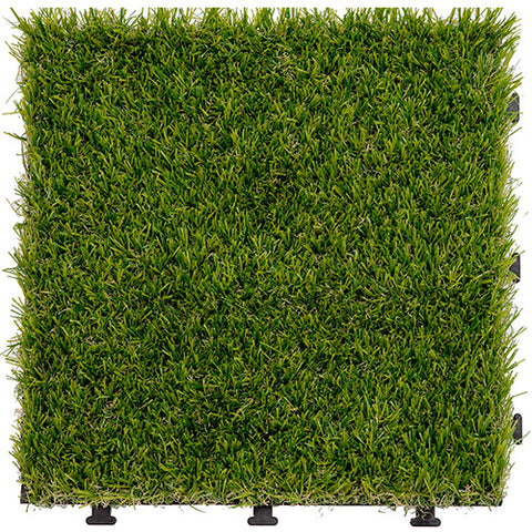 1 PC Grass Tile Series PP Interlocking Grass Deck Tiles Artificial Anti-wear Turf Tiles Rug Garden Decking Tile