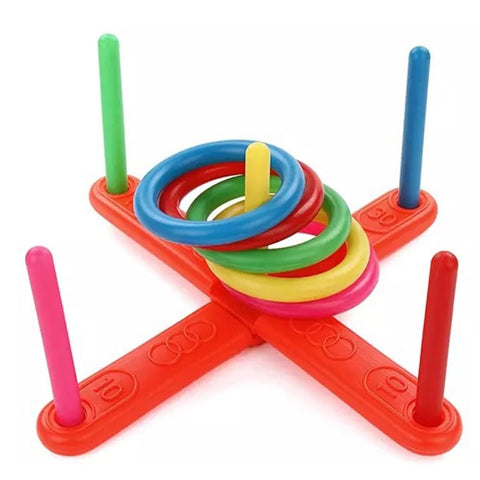 1 Set Plastic Ring Throwing Ferrule Funny Kids Outdoor Sport Hoop Ring