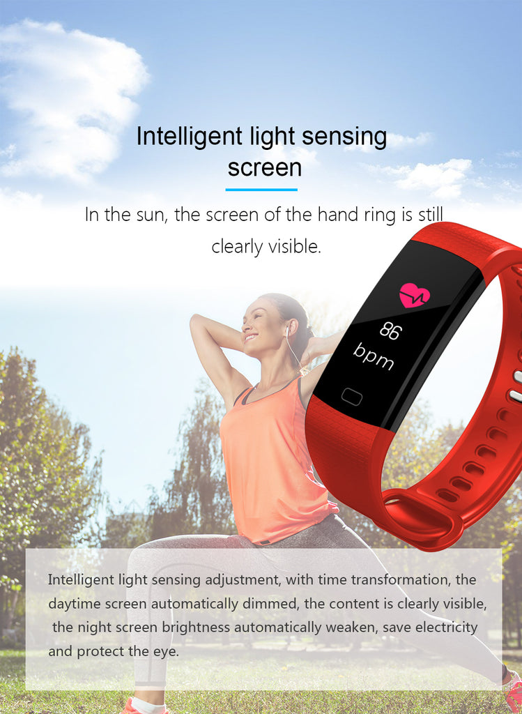 Y5 Smart Watch Band Color Screen Wristband smart fitness