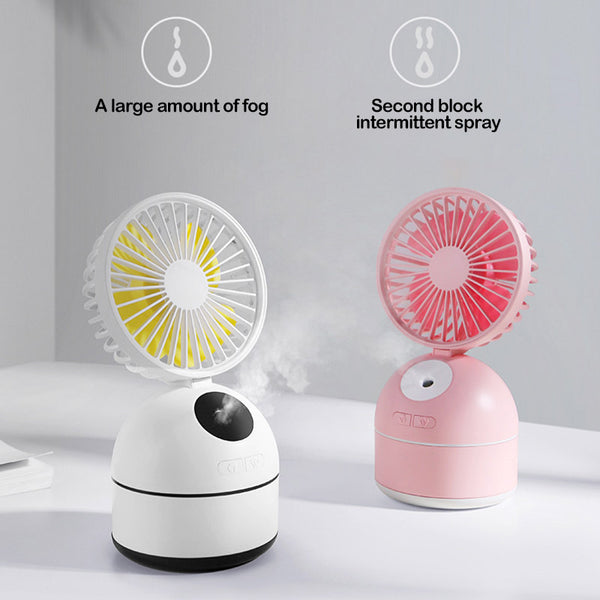 USB Charging Office Desktop Humidifier Spray Fan  Air Conditioning Fan