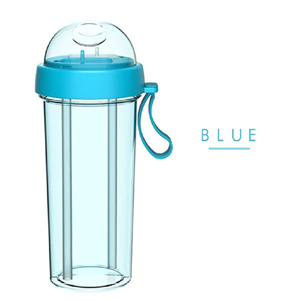 420ml Drinking Sippy Cup Double Drink Couple Cup