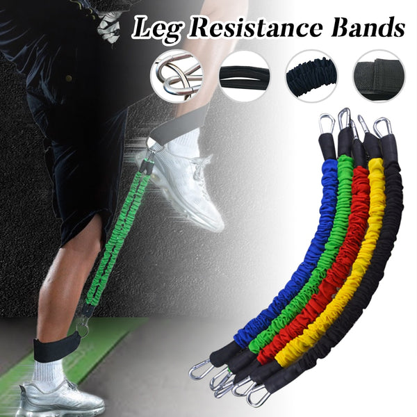 Latex Resistance  Tube Bands Elastic Leg Tensioner With Padded Ankle Straps