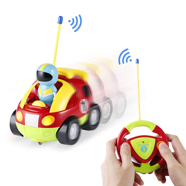 Cartoon Car Vehicle 2-Channel Remote Control Toy with music and light