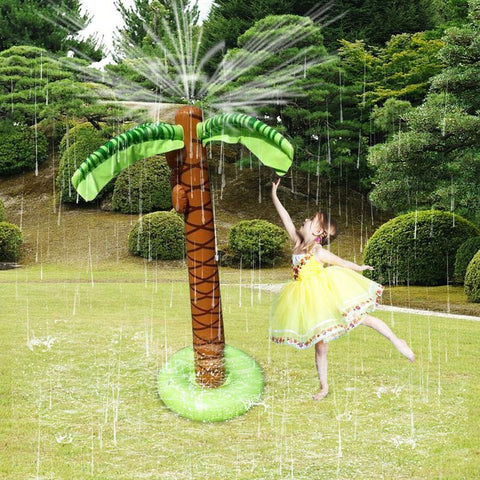 Inflatable Water Sprayer Octopus 1.6M Inflatable Coconut Palm Tree Water Sprinkler