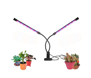 Two Head Clip LED Grow Light Plant Growth Lamp with Switch