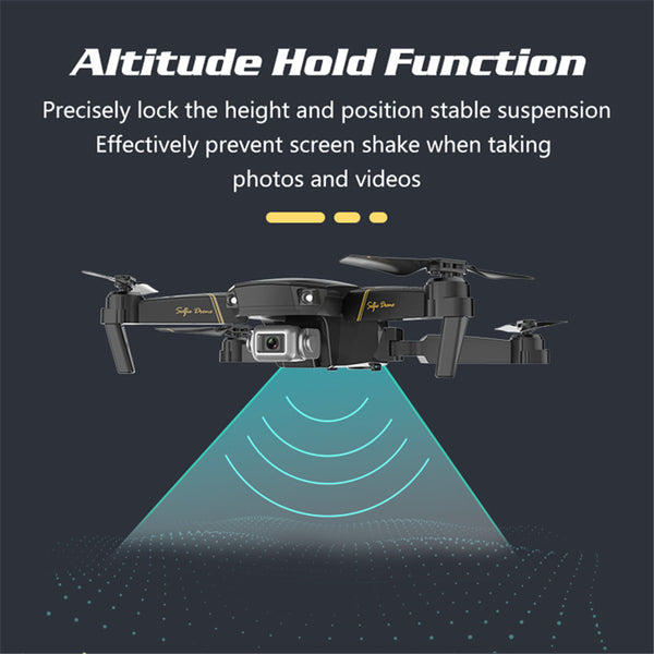 WIFI FPV 4K HD Camera Altitude Hold Mode Foldable RC Quadcopter Drone