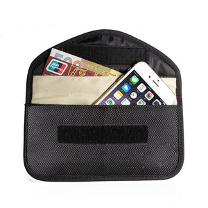 New GSM 3G 4G LTE GPS RF RFID Signal Blocking Bag Anti-Radiation Wallet Case for Cell Phone 6 Inch