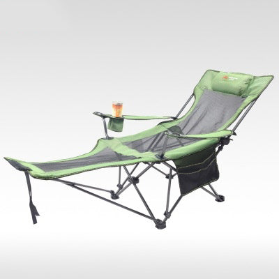 Folding beach chair Sun Loungers Outdoor folding recliner portable back fishing chair wild camping leisure beach stool Rest bed