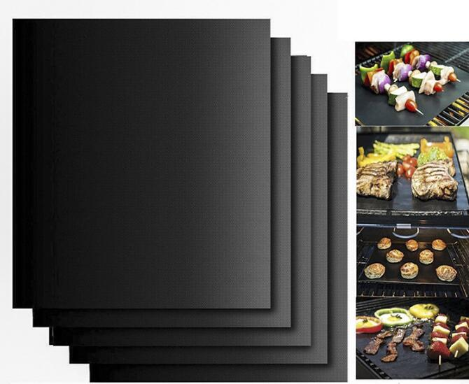 2/6pcs Non-Stick BBQ Grill Mats Reusable Easy to Clean