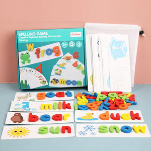 Word Games Matching Spelling Wooden Letter Puzzle Spelling Game