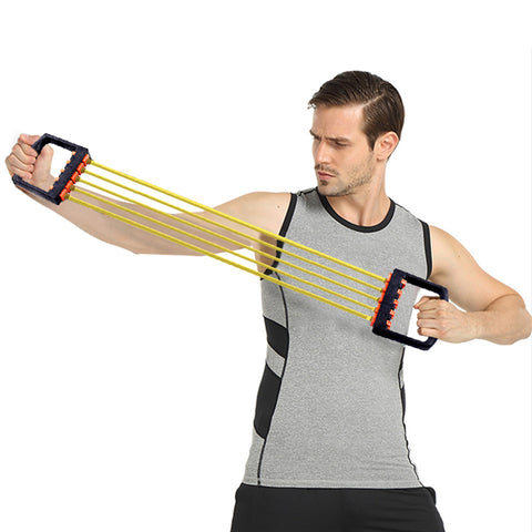 Resistance Bands Chest Expansion Tensioner Five Latex Rope
