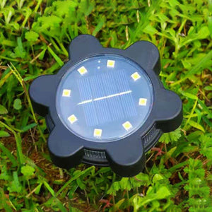 4pack/set Solar Powered Outdoor Lawn Lamp Irritate Blue Light on Side Buried Light