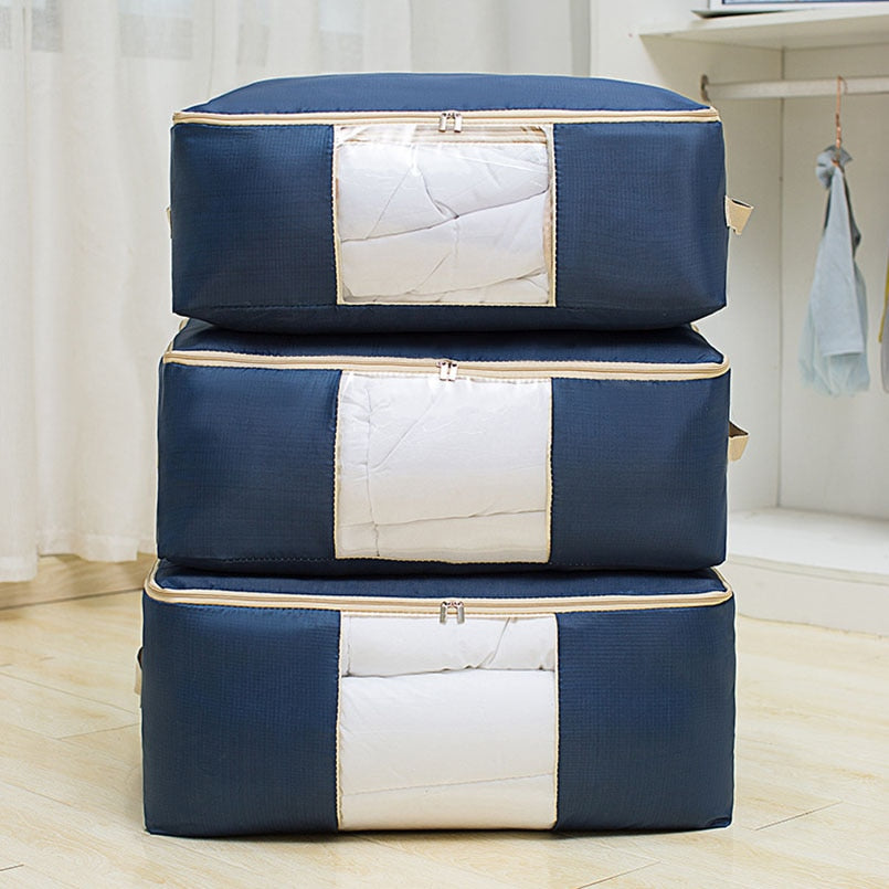 Waterproof Breathable Non-Woven Portable Clothes Storage Bag Organizer Bag For Clothes Oxford Cloth Storage Bag Closet Organizer