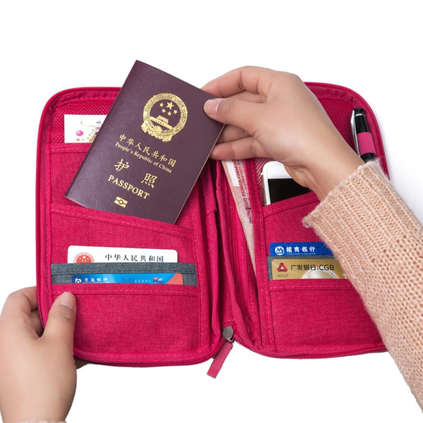 Unisex Travel Organizer Passport Holder Card Package Credit Card Holder Wallet