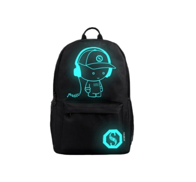 Travel Sports School Laptop Glow in the Dark Night Backpack