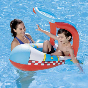 Summer Child Baby Space Rocket Child Inflatable Swimming Pool Toy Float