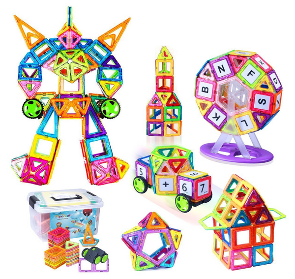 2D/3D Magnetic Building Blocks Shapes Puzzle Set