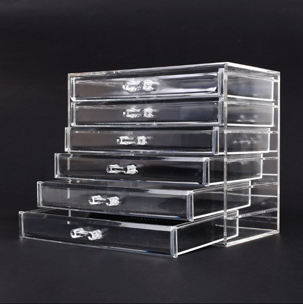 Beautify Acrylic Makeup Organiser 6 Tier Clear Cosmetic Storage Box Tray Drawers