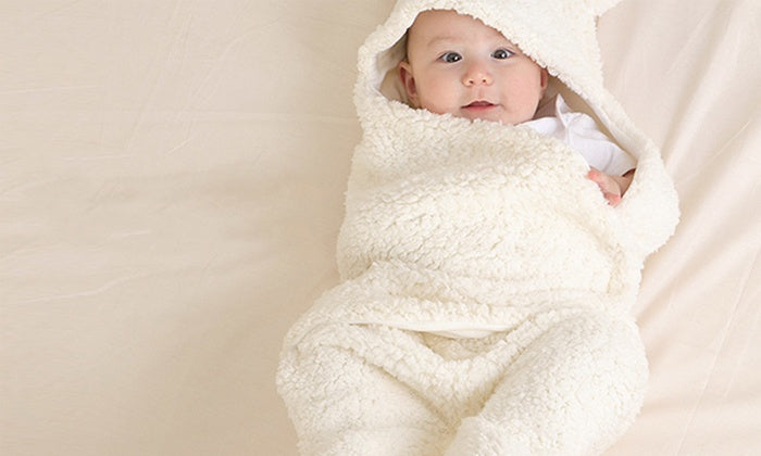 Newborn Baby Swaddle Wrap Blanket Sleeping Bag Fleece Blanket
