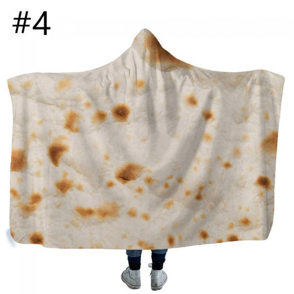 Mexican Burrito Hooded Blanket