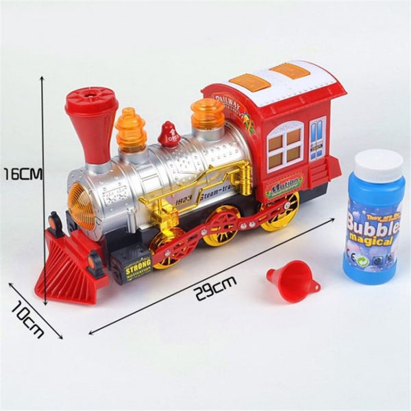 Electric Blow Bubble Train Toy