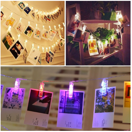 10 & 20 Led Photo Cards Memos Wedding Christmas Decoration Clips String Lights
