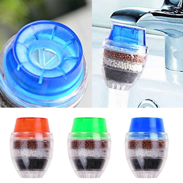 2 Pcs Water Clean Purifier Filter Cartridge Coconut Carbon Kitchen Faucet Tap Random