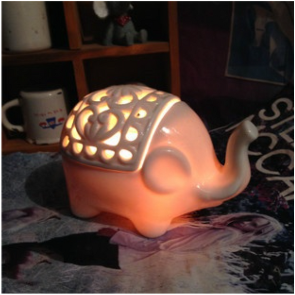 Ceramic Elephant Salt Lamp